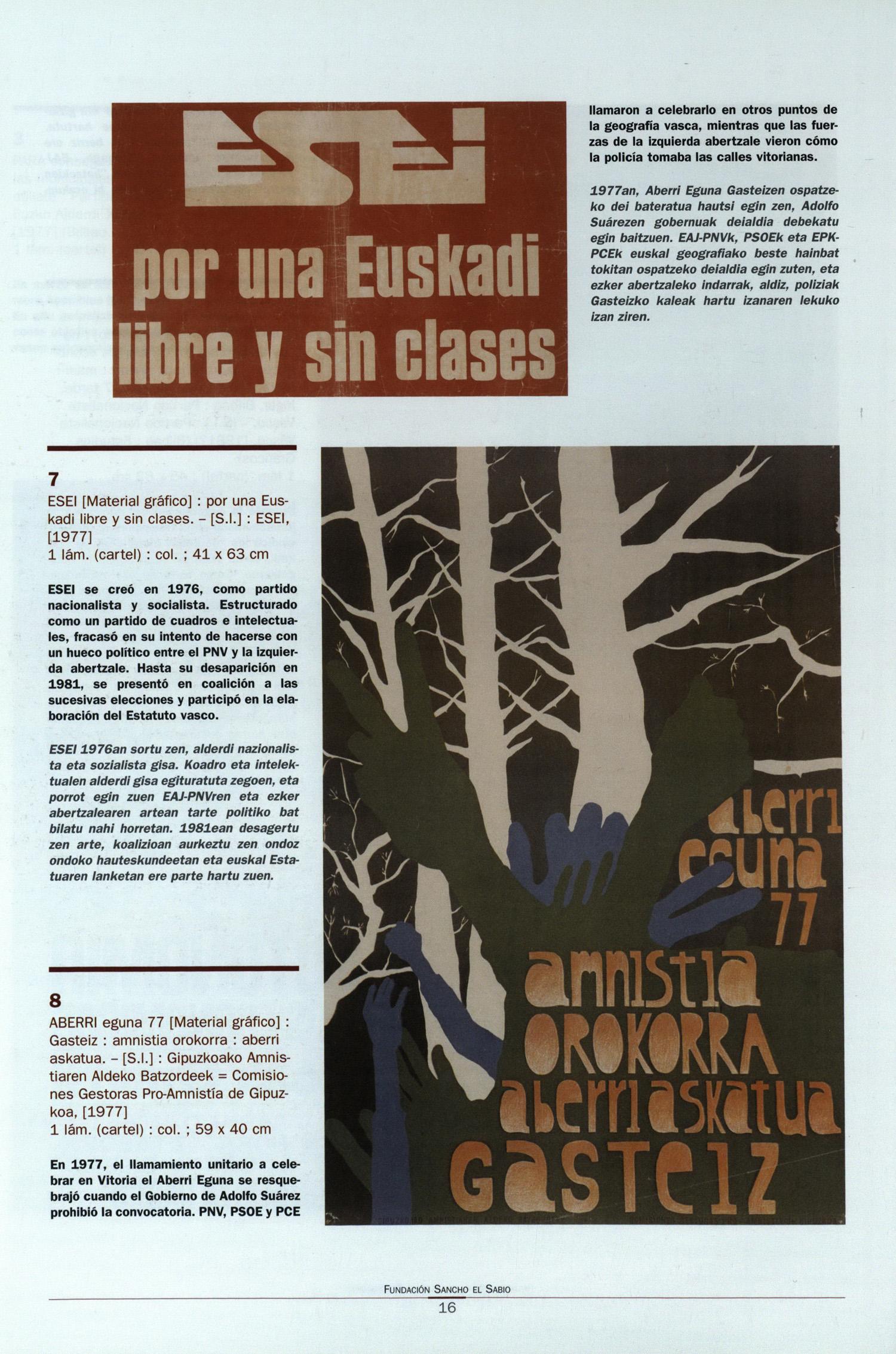EMD Fundacion Sancho el Sabio Fundazioa: Afiches : paredes con ...