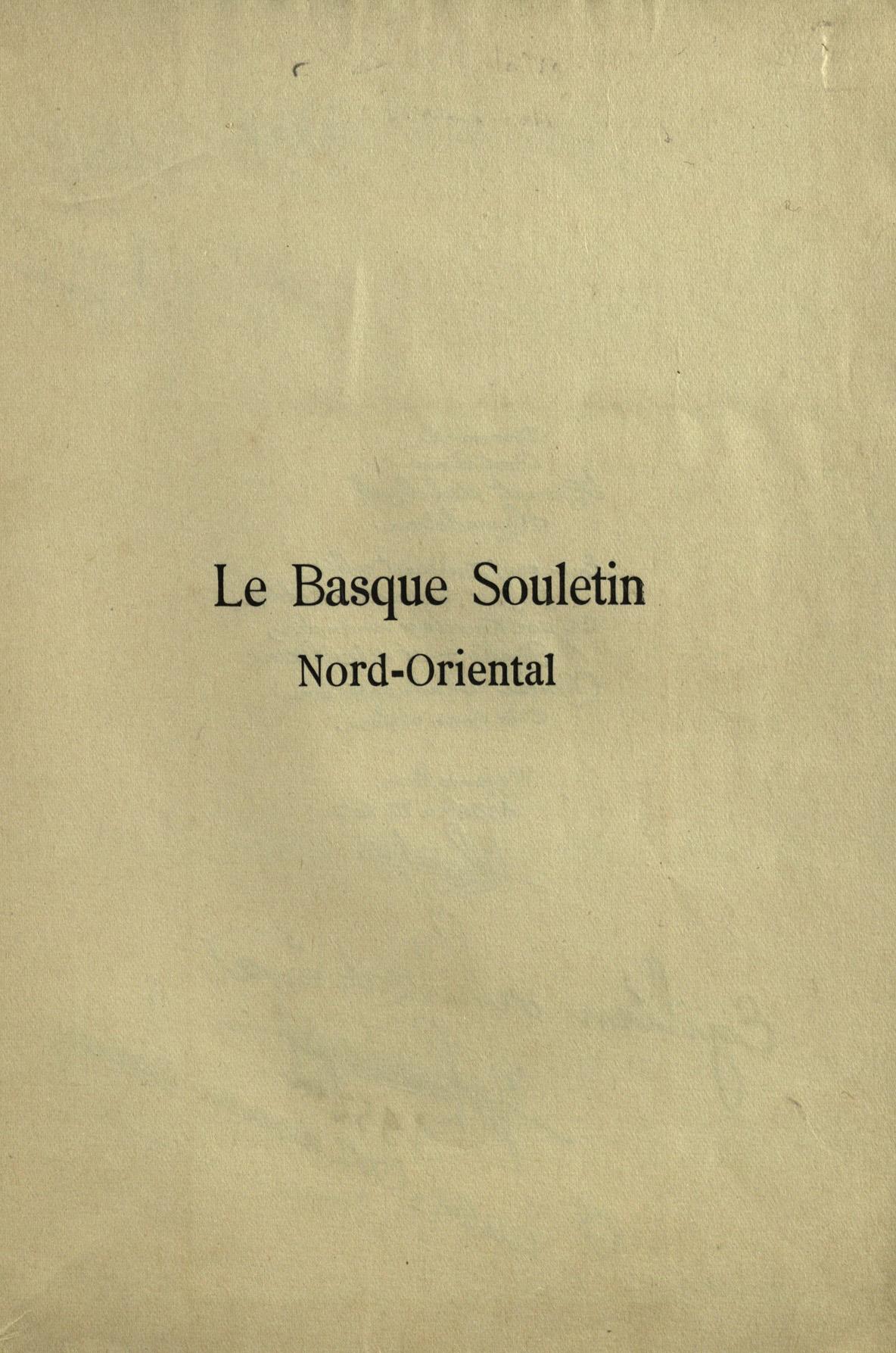 larrasquet jean le basque souletin